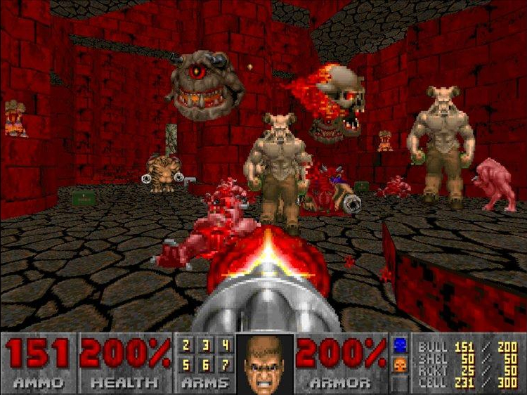 doom, video game, fps game, idSoftware, shooting games