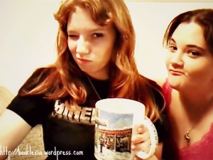 best friends being silly with coffee