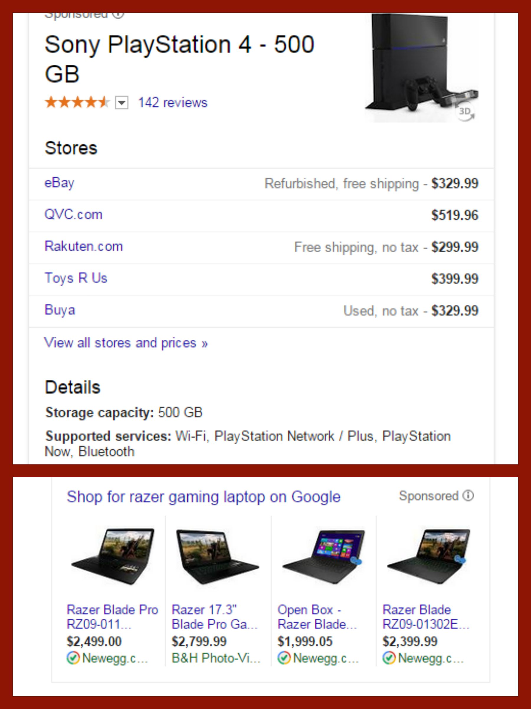Gaming Laptop Vs Ps4